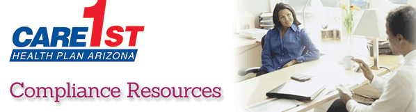 Compliance Resources Providers Care1st Health Plan Arizona Inc